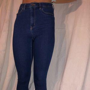 High Waisted blue jeans